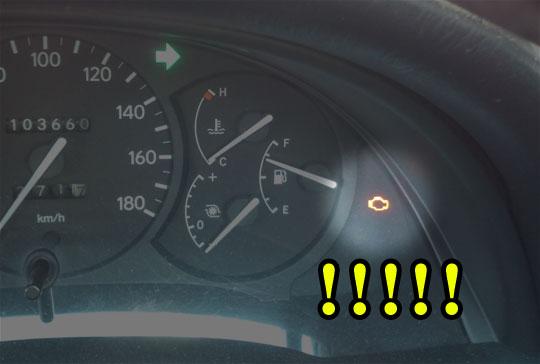 【つくなぁと】冷えると、朝一の始動時にエンジン警告灯がつく【わかる】